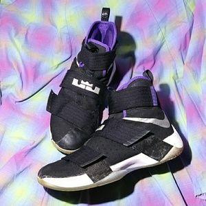 🎉 LeBron Zoom Soldier 10 Court Purple  844374-008
